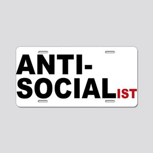 Anti Socialist Aluminum License Plate