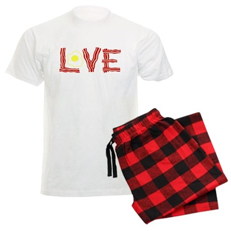 Love Bacon and Eggs Men's Light Pajamas
