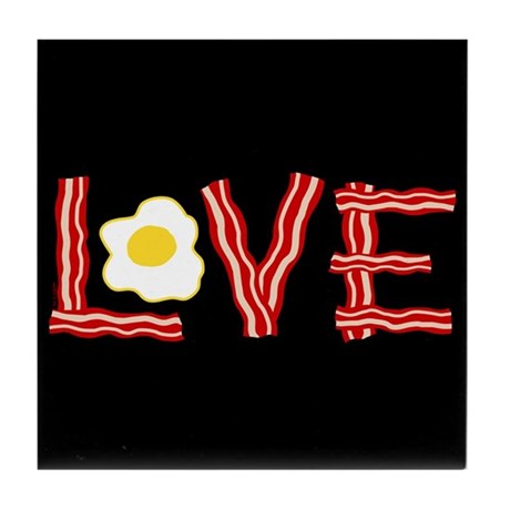 Love Bacon and Eggs Tile Coaster