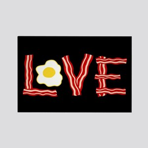 Love Bacon and Eggs Rectangle Magnet