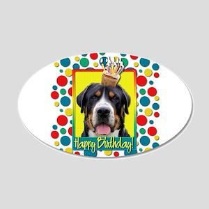 Birthday Cupcake - Swissie 22x14 Oval Wall Peel