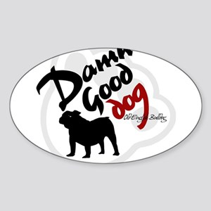 Old English Bulldog Oval Sticker