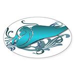 Teal Fantasy Pegasus Sticker (Oval 10 pk)