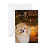 Pomeranian christmas Greeting Cards
