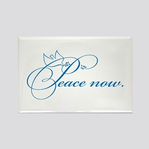 Peace Now Rectangle Magnet