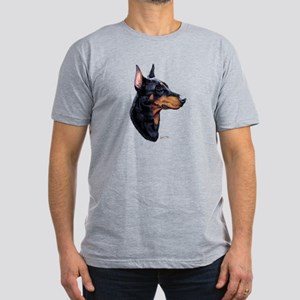 Doberman Men's Fitted T-Shirt (dark)