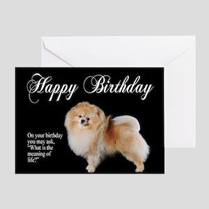 Pomeranian Birthday Card