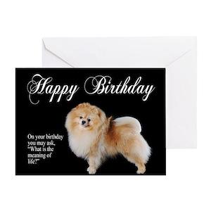 Pomeranian Greeting Cards Cafepress