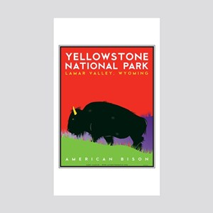 Yellowstone NP: Bison Sticker (Rectangle 10 pk)