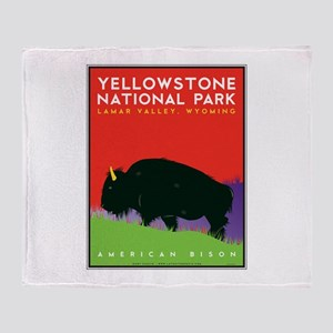 Yellowstone NP: Bison Throw Blanket