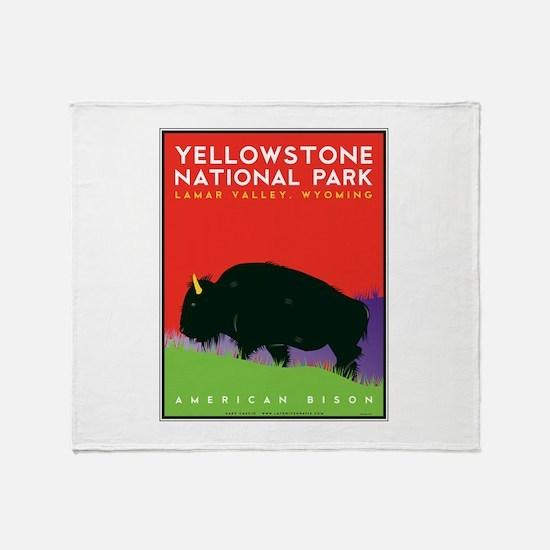 Yellowstone NP: Bison Throw Blanket