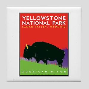 Yellowstone NP: Bison Tile Coaster