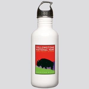 Yellowstone NP: Bison Stainless Water Bottle 1.0L