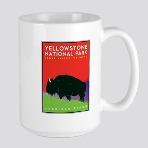 Yellowstone NP: Bison Large Mug