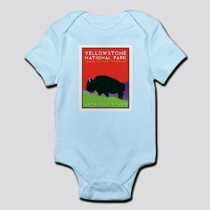 Yellowstone NP: Bison Infant Bodysuit