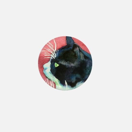 Tuxedo Cat Mini Button