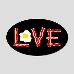 Love Bacon and Eggs 20x12 Oval Wall Decal