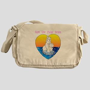 Save the Polar Bears Messenger Bag