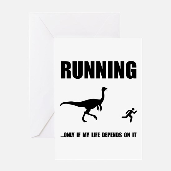 Hate Running Greeting Card