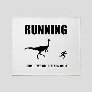 Hate Running Throw Blanket