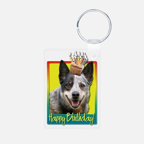Birthday Cupcake - Cattle Dog Keychains