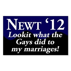 Newt 12: The Gays and my Marriage sticker