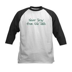 Never Stray From Path Kids Baseball Jersey