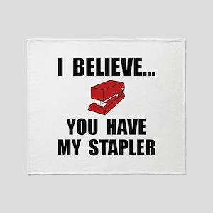 My Stapler Throw Blanket
