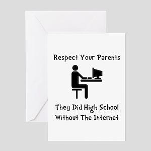 Respect Parents Internet Greeting Card