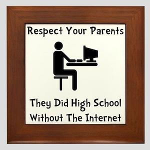 Respect Parents Internet Framed Tile