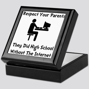 Respect Parents Internet Keepsake Box