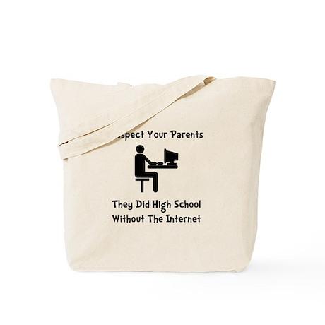 Respect Parents Internet Tote Bag