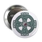 "Green Celtic Cross Irish 2.25"" Button (10 pac"