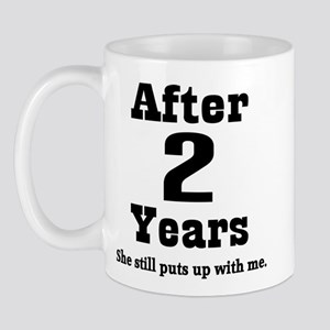 2nd Anniversary Funny Quote Mug
