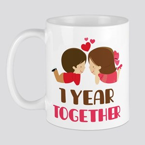 1 Year Together Anniversary Mug