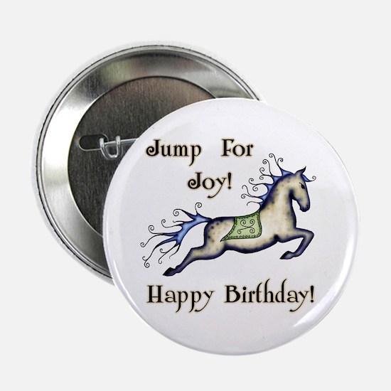 Happy Birthday! Horse Button