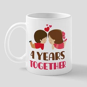 4 Years Together Anniversary Mug