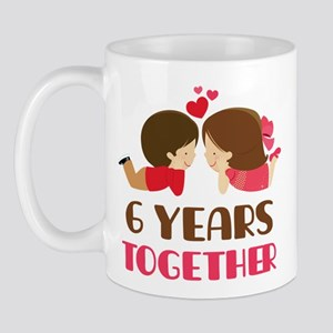 6 Years Together Anniversary Mug