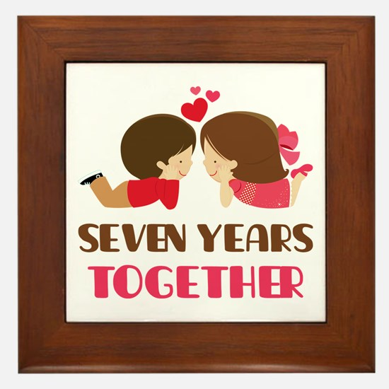 7 Years Together Anniversary Framed Tile