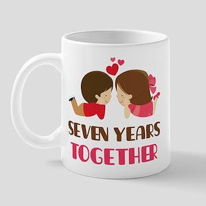 7 Years Together Anniversary Mug