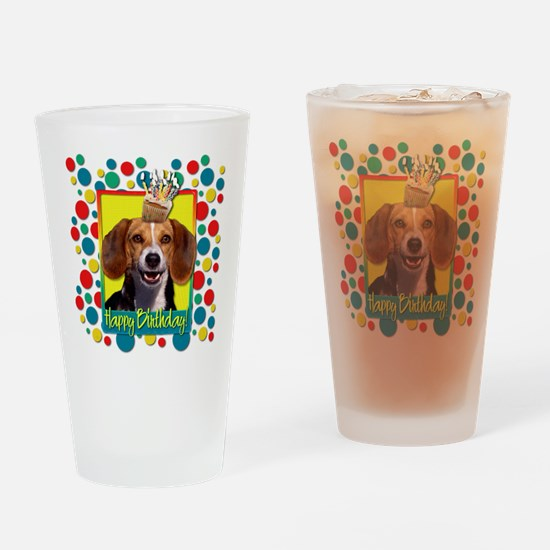 Birthday Cupcake - Beagle Drinking Glass