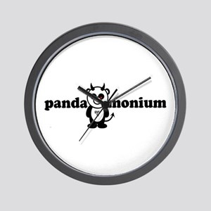 PANDAMONIUM Wall Clock