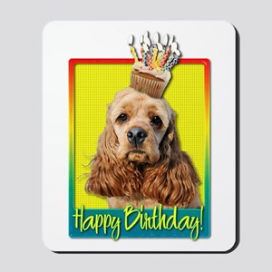 Birthday Cupcake - Cocker Spaniel Mousepad