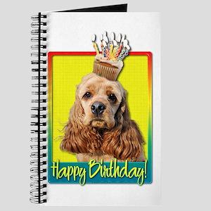 Birthday Cupcake - Cocker Spaniel Journal