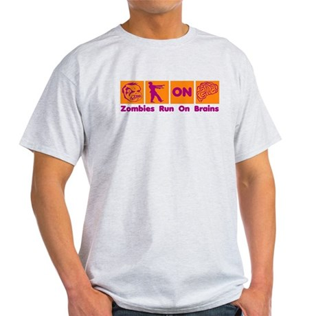 Funny Zombies Dunkin Donuts Light T-Shirt