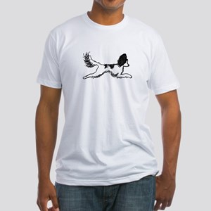 Leaping Papillon Fitted T-Shirt