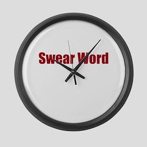 Swear Word Large Wall Clock
