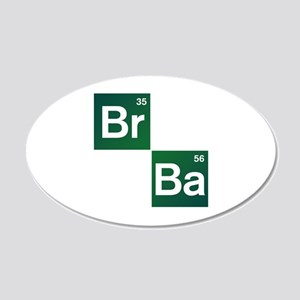 'Breaking Bad' 20x12 Oval Wall Decal