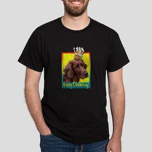 Birthday Cupcake - Irish Setter Dark T-Shirt