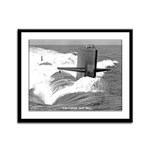 USS LAPON Framed Panel Print
